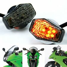 Smoke 15 LED Flush Mount Turn Signal Blinker Marker For Yamaha YZF R1 R6 R7 R6S