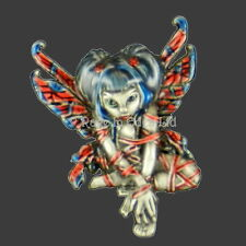 *RED RIBBON* Fairy Necklace By Jasmine Becket-Griffith!