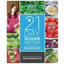 The 21-Day Sugar Detox Diane Sanfilippo Twenty One New Paperback Book WT70369