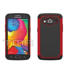 Hybrid Impact Shock Proof Rugged Case For Samsung Galaxy Core LTE G386F - Red