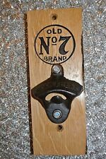 Jack Daniels Whiskey Barrel Stave Bottle Opener