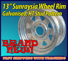 "13"" Sunraysia Wheel Rim Galvanised Holden HT Stud Pattern Trailer Caravan Boat"