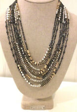 Stella & Dot Relic Mixed Metal Statement Necklace - New! 2 in 1! RV $148
