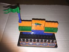 LEGO BUSINESS CARD HOLDER  CUSTOM MADE FOR YOUR DESK ORANGE BLUE GREEN FISHING