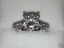 2.40 CT CUSHION CUT FINE SOLITAIRE ENGAGEMENT RING SOLID 14KT WHITE GOLD