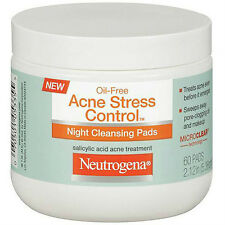 Neutrogena Acne Stress Control Night Cleansing Pad 60ct