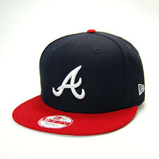 "New Era Atlanta Braves ""National League"" Snapback Hat!! BLUE/RED/WHITE!!"