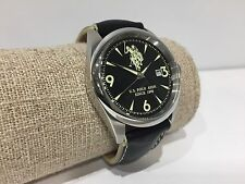 Nuevo - Reloj Watch Montre U.S. POLO ASSN. Sport Black Steel Leather 39 mm