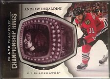 Andrew Desjardins 2015-16 Black Diamond Championship Rings Chicago Blackhawks