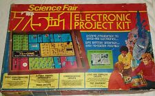 Vintage 1976 Radio Shack Science Fair 75 In 1 Electronic Project Kit 28-247