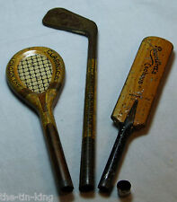 JOB LOT X3 RARE FIGURAL TINS ROWNTREE&CLARNICO SWEETS CACHOUS BAT RACKET CLUB