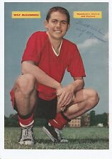 WILF McGUINNESS MANCHESTER UNITED 1955-1960 ORIGINAL HAND SIGNED PICTURE CUTTING