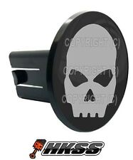 Universal Class 2  3 Tow Hitch Receiver Insert Cover Plug - GREY SKULL G B ZLF