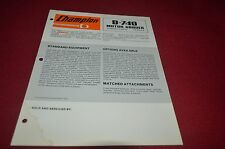 Champion D-740 Motor Grader Dealer's Brochure DCPA6