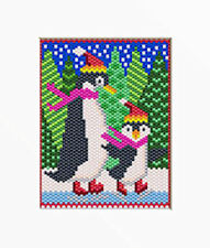 SKATING BUDDIES~LARGE PONY BEAD BANNER PATTERN ONLY