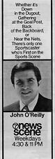 1971 KGO tv ad ~ Sportscaster JOHN O'REILLY on News Scene in San Francisco,Ca