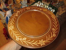 Vintage Wood Lazy Susan  with Cuendet Music Box - Lara's Theme from Dr. Zhivago