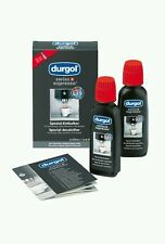 2 X DURGOL DESCALER COFFEE CLEANER DESCALING FLUID dolce gusto tassimo nespresso