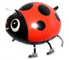 RED LADYBUG WALKING BALLOON FOIL HELIUM PET PARTY BIRTHDAY LADY BUG AIRWALKER