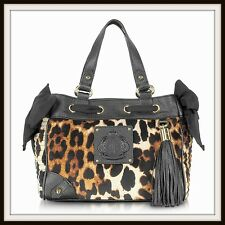 Juicy Couture ANIMAL PRINT VELOUR Mini Daydreamer Tote Leopard New Tag Authentic