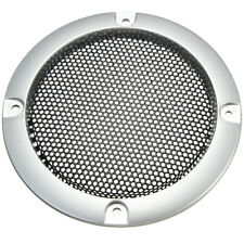 2PCS 3''inch Silver Circle Speaker Cover Decor Circle With Protective Grille