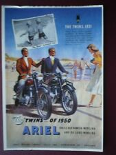 POSTCARD  ARIEL THE TWIN MOTOR CYLES OF 1950