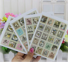 Alice In Wonderland Vintage Stamp Stickers Free UK Postage & Packaging