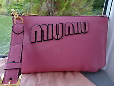 Gorgeous 100% Authentic Miu Miu Pink Leather Clutch Bag/ Purse BNIB