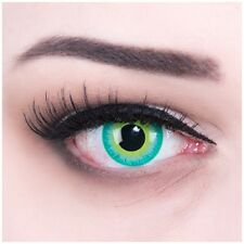 Coloured Contact Lenses Green Elf Contacts Color Halloween + Free Case