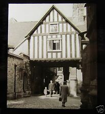 Glass Magic Lantern Slide ARCHWAY AT EVESHAM C1920 ENGLAND WORCESTERSHIRE