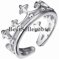 Classical Silver Tone Celtic Cross King Crown Ring Men's Ladies Birthday Gifts