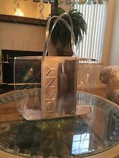 DKNY Women Parfums Clear Weekender Tote Bag Purse Handbag !