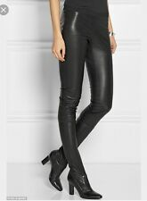 Tamara Mellon de Jimmy Choo Black Stretch Cuero Leggings Y Botas Tamaño 38.5