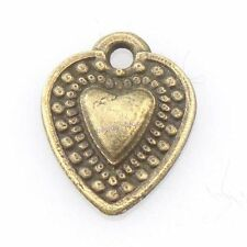 100x 143980 Free Ship New Alloy Heart Tag Charm Bronze Jewelry Pendants Findings