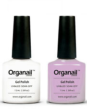 LOT 2 Vernis à ongle  BLANC+ROSE TRANSPAREN semi permanent UV GEL LED Maquillage
