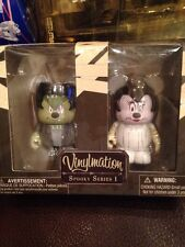 "Disney Vinylmation 3"" Spooky Series #1 Mickey Minnie Mouse Halloween 2 Pack Set"