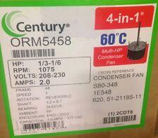 A.O. Smith Century ORM5458 Condenser Fan Motor 1/3-1/6 HP 1075 RPM 208/230 Volt