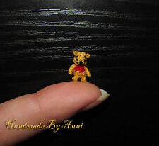 Miniature ooak Winnie the Pooh Disney miniatures micro bear Disney collectibles