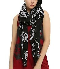 My Chemical Romance Tossed All Over Print Sheer Scarf New With Tags!
