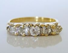Beautiful Victorian 18ct Gold 0.50ct Diamond Ring Size J
