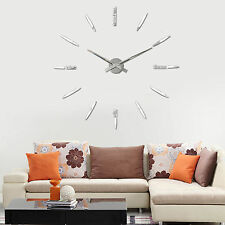 New Fashoin DIY Wall Clock 3D Mirrors Face Sticker Unique Watches On The Wall