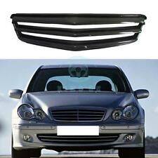 Carbon Fiber Front Bumper Grille Grill For Mercedes-Benz C-class W204 07-12
