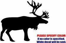 Vinyl Decal Sticker - Caribou Animal Hunt Antler hunting Car Truck JDM Fun 9""