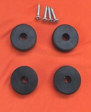 LARGE 10mm.  x 37mm. RUBBER FEET STEEL INSERT SET OF 4