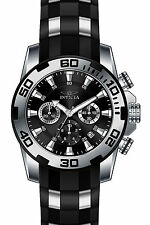 Invicta 22311 Pro Diver Men's All Black Silicone Strap 50mm Watch Chronograph