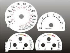 2002-2003 Saab 9-5 TURBO Dash Cluster White Face Gauges 02-03
