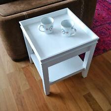 Landhaus Beistelltisch PARIS Couchtisch Nachttisch Holz weiß 40x40cm Neu