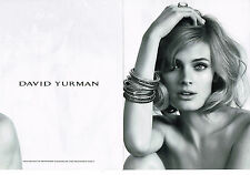 PUBLICITE  2013   DAVID YURMAN  joaillier ( 2pages)