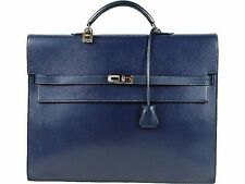 HERMES  Kelly Depeche 38 Business Bag Briefcase navy Epson 100% Auth From JAPAN