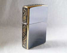 Zippo 3 Sides Etching ARABESQUE / Gunmetal and Brass / RARE Model from Japan !